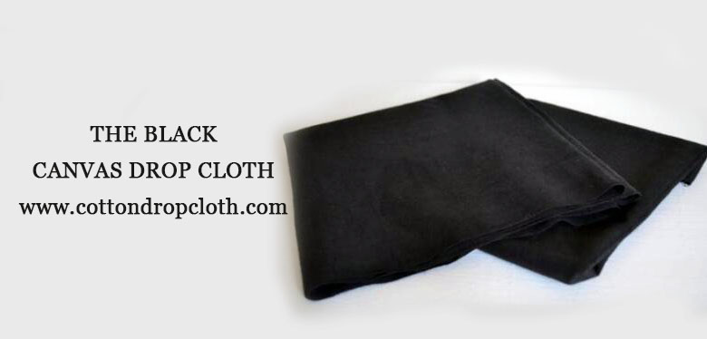 Did you see the black canvas drop cloth?